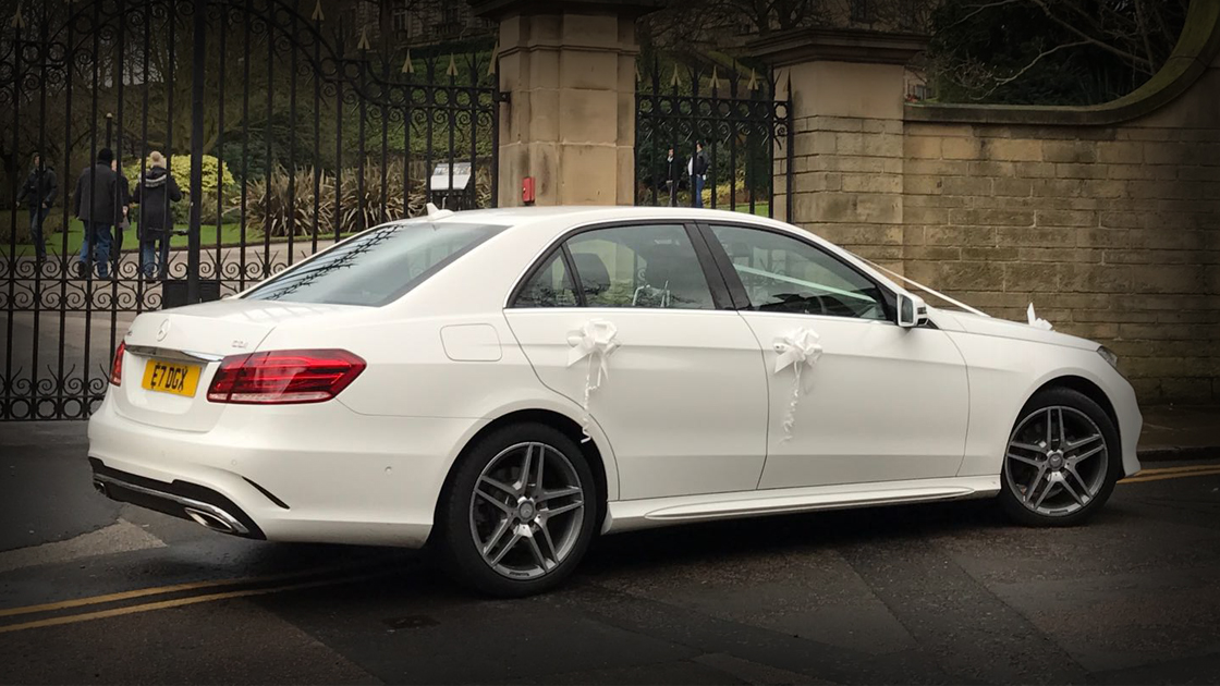 Executive White E Class - Side - Up To 4 Passengers